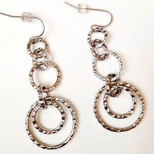 Lia Sophia Avalon hammered silver earrings